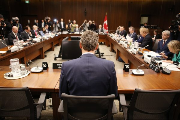 Crisis Surrounding Canadian Prime Minister Justin Trudeau Grows As Former Advisor Gerry Butts Testifies To Parliament Hearing On The SNC-Lavalin Affair