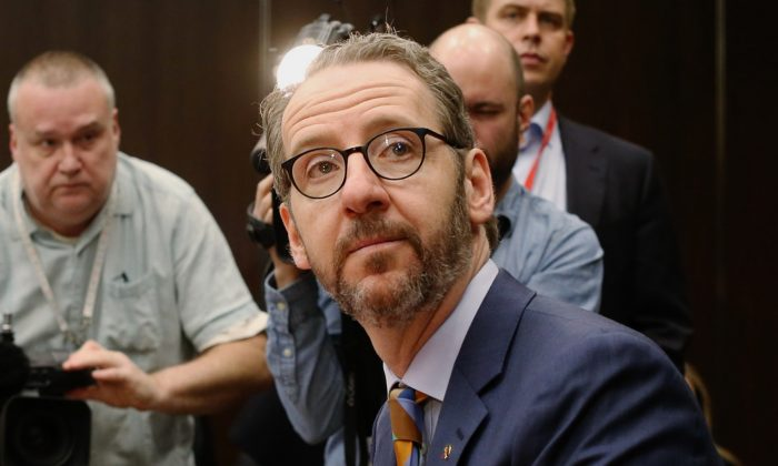 Gerald Butts, former principal secretary to Canada's Prime Minister Justin Trudeau, testifies before the House of Commons justice committee on Parliament Hill in Ottawa, Canada on March 6, 2019. (Dave Chan/Getty Images)
