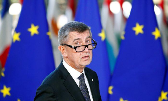 Czech Republic's Prime Minister Andrej Babis arrives at a European Union leaders summit in Brussels, Belgium on Dec. 13, 2018. (Francois Lenoir/Reuters)