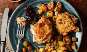 Roasted Chicken Thighs With Root Vegetables