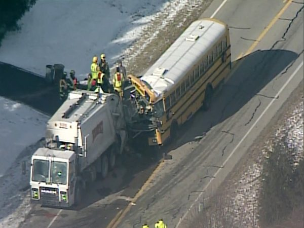 School bus crashed