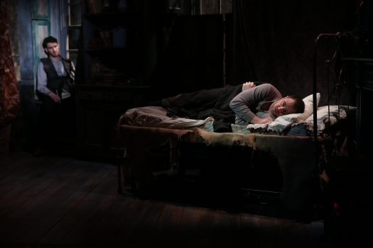 James Russell and Michael Mellamphy in Irish Rep's 2019 production of THE SHADOW OF A GUNMAN -