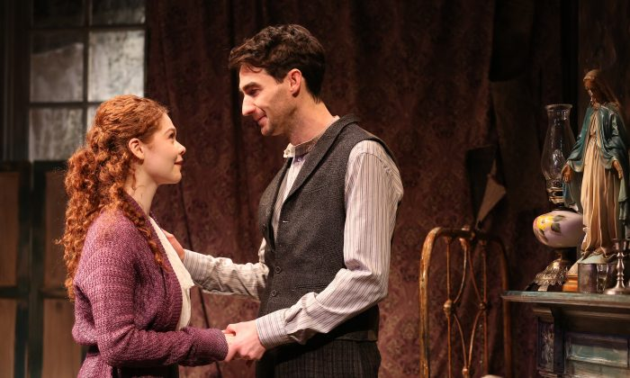 """Meg Hennessy and James Russell in Irish Rep's 2019 production of """"The Shadow of a Gunman."""" (Carol Rosegg)"""