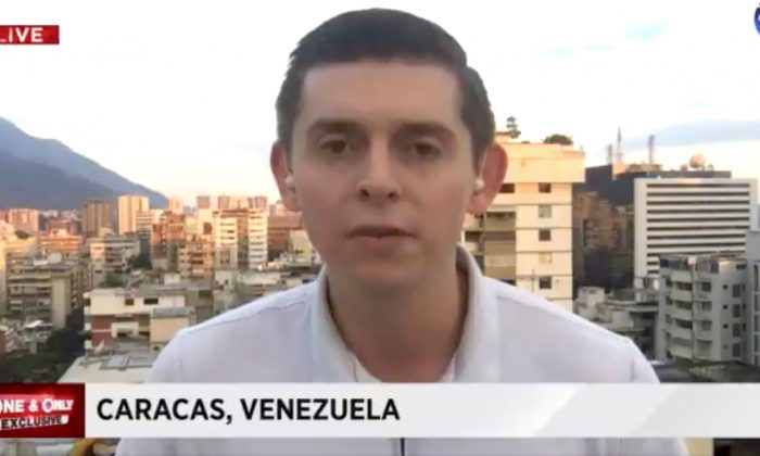 American journalist Cody Weddle speaks in Caracas, Venezuela, January 2019 in this picture grab obtained from a social media video. (WPLG LOCAL 10/via REUTERS)