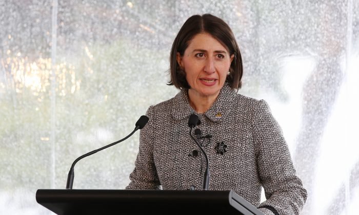NSW Premier Gladys Berejiklian speaks to dignitaries and members of the Invictus Team Australia Squad at the official launch at Admiralty House on Jun. 7, 2017 in Sydney, Australia. (Toby Zerna - Pool/Getty Images)