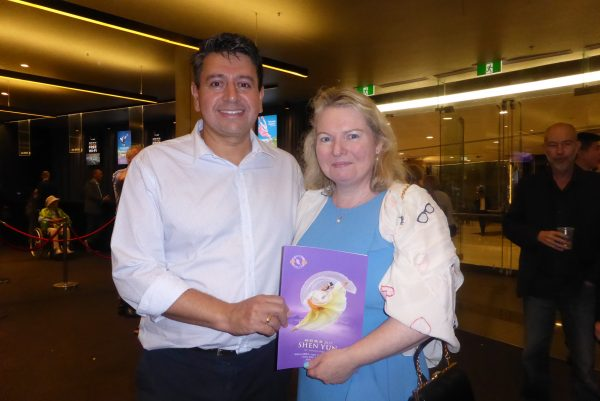 Linda Riseley and Mario Cortés attend Shen Yun Performing Arts