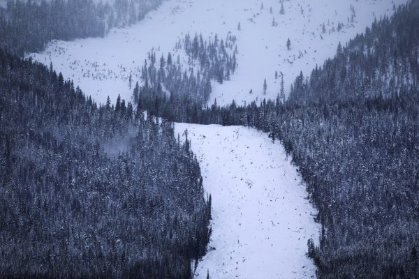 avalanche slide path