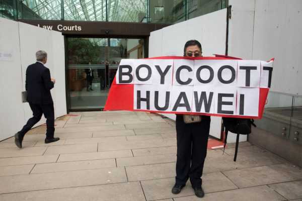 Max Wang protests Huawei Chief Financial Officer