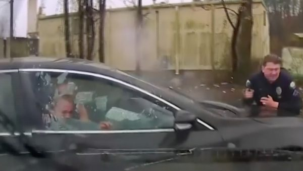 Police officer ram into suv