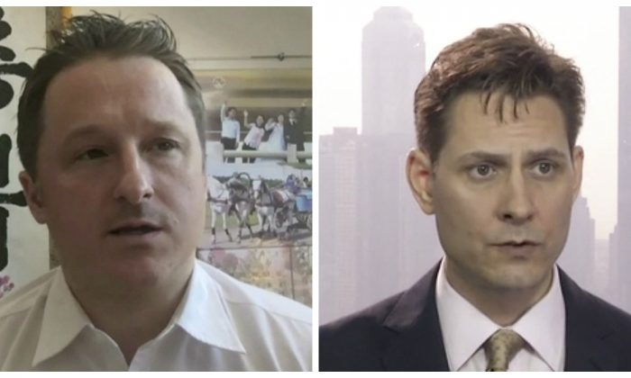 Canadians Michael Spavor (L) and Michael Kovrig have been detained in China since shortly after Canada arrested Huawei CFO Meng Wanzhou in Vancouver in December 2018. (AP Photo)
