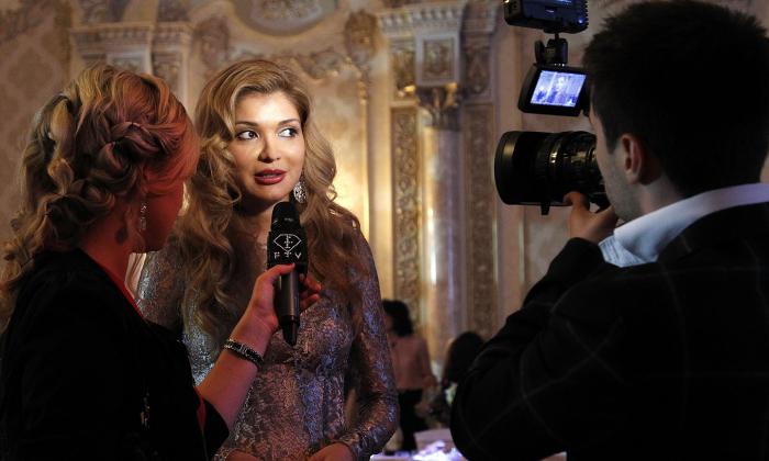 Gulnara Karimova on October 6, 2012 in Tashkent, Uzbekistan.  (Yves Forestier/Getty Images for Style.Uz Art Week)
