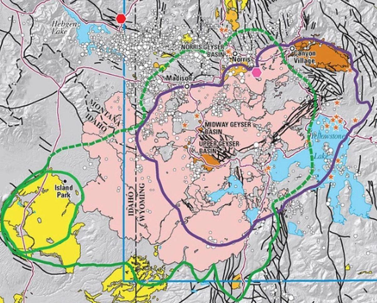 Yellowstone Volcano On Map