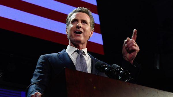 candidate Gavin Newsom