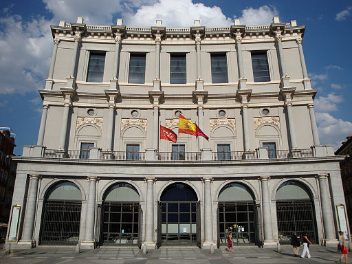 The Royal Theater in Madrid, Spain.