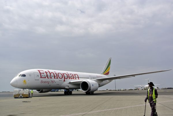 An Ethiopian Airlines Dreamliner jet