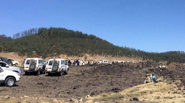 Ethiopian air crash site