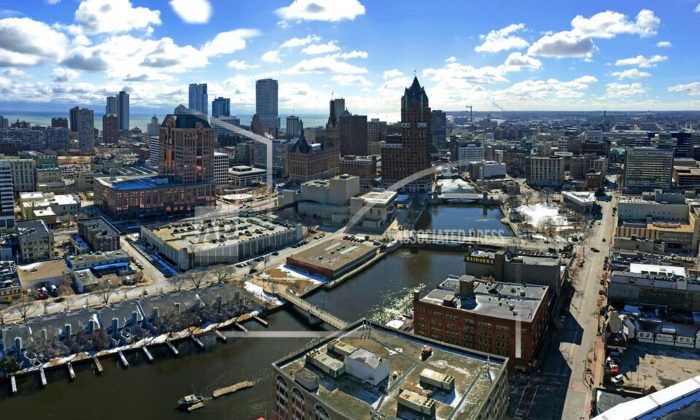 The downtown skyline of Milwaukee on March 7, 2018. The Democratic National Committee has selected Milwaukee to host the 2020 national convention. (Mike De Sisti/Milwaukee Journal-Sentinel via AP)