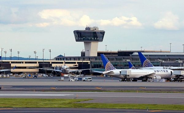 The Newark Liberty Airport is seen after authorities ordered a partial evacuation in Newark,
