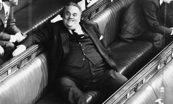 Liberal lawmaker Cyril Smith in the House of Commons in London in 1982. (Hulton Archive/Getty Images)