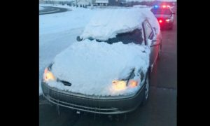 Minnesota Police Shares Photo of Car Covered in Snow as a Warning