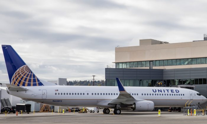 A United Airlines Boeing 737 is parked outside the new Boeing 737 Delivery Center in Seattle, Wash., on Oct. 19, 2015. (Stephen Brashear/Getty Images)