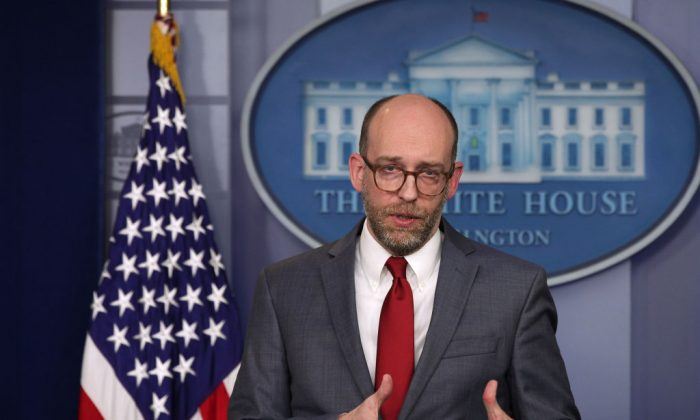 Acting Director of Office of Management and Budget Russell Vought speaks during a news briefing at the James Brady Press Briefing Room of the White House in Washington on March 11, 2019. (Alex Wong/Getty Images)