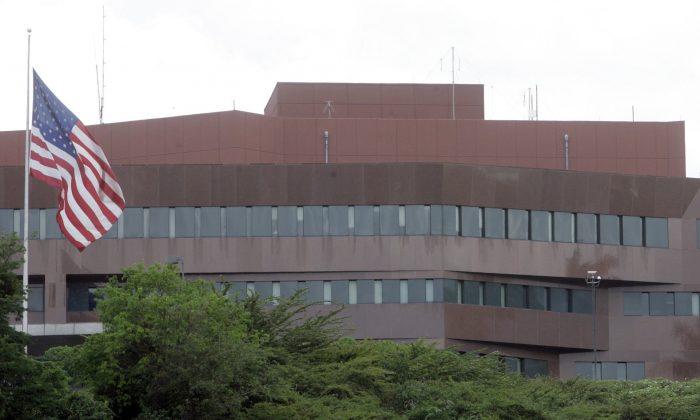 U.S. embassy in Caracas, Venezuela on Sept. 12, 2008. (Howard Yanes/AP Photo)