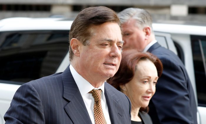 Paul Manafort arrives at a hearing at District Court in Washington on Jan. 16, 2018. (Reuters/Yuri Gripas/File Photo)