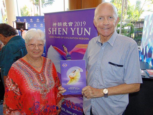 Gold Coast Brass Band Musical Director Denise Collins husband John Gold Coast Shen Yun