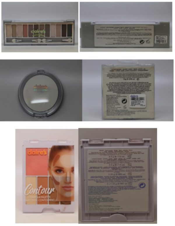 Contaminated makeup products