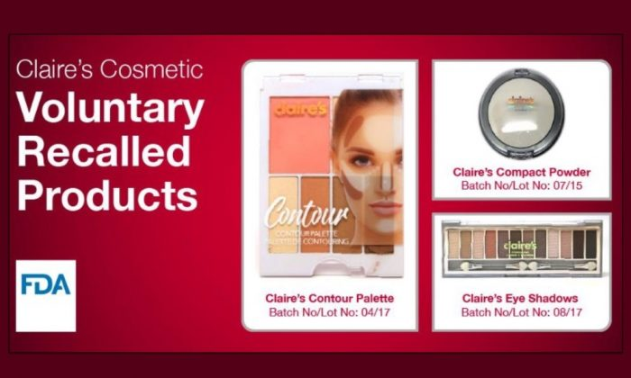 The Food and Drug Administration has issued a consumer advisory against the use of certain Claire's makeup products over concerns they may contain cancer-causing asbestos. (FDA)