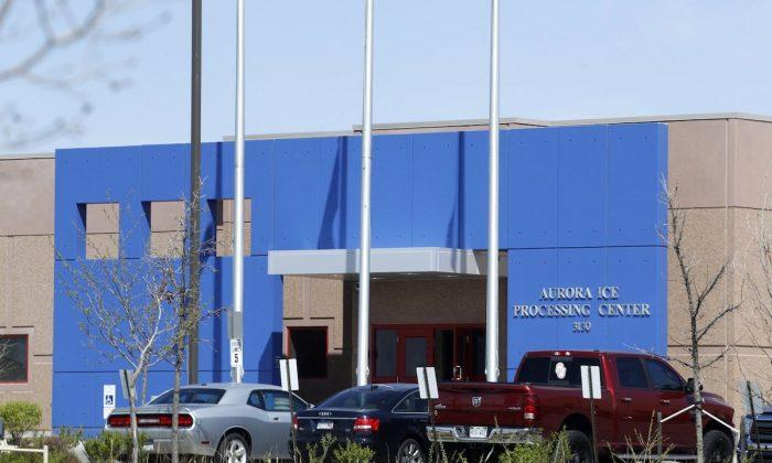 GEO Group's immigrant detention facility in Aurora, Colo. On April 15, 2017. (AP Photo/David Zalubowski)
