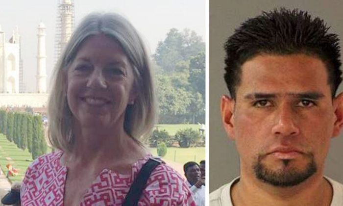 Carlos Eduardo Arevalo Carranza (R) was arrested in connection with the murder of Bambi Larson in San Jose, Cali., on March 11, 2019. (Facebook/ San Jose Police Department)