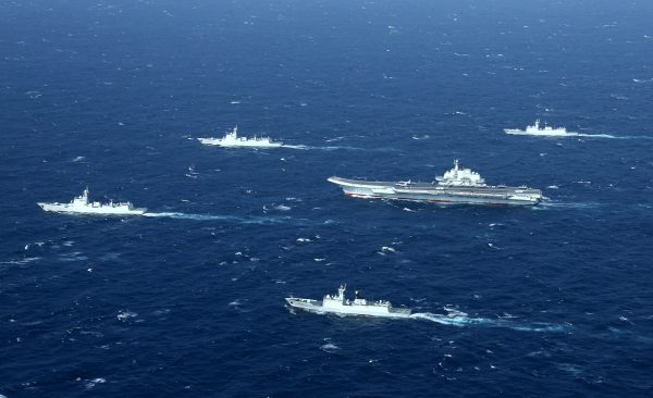 A Chinese navy formation