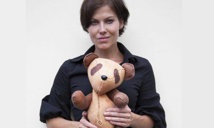 Czech artist Barbora Balkova holding a panda bear (Courtesy of Barbora Balkova)