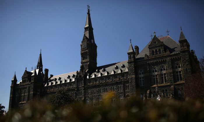 The campus of Georgetown University is shown in Wash., DC., on March 12, 2019. (Win McNamee/Getty Images)