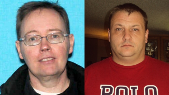 George Cunningham (L) and John Stygler face charges including kidnapping in the abduction of a 5-year-old boy in Michigan, on March 13, 2019. (Chippewa County Sheriff's Office)