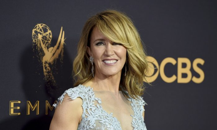 Actress Felicity Huffman at the 69th Primetime Emmy Awards in Los Angeles, California on Sept. 17, 2017. (Jordan Strauss/Invision/File via AP)