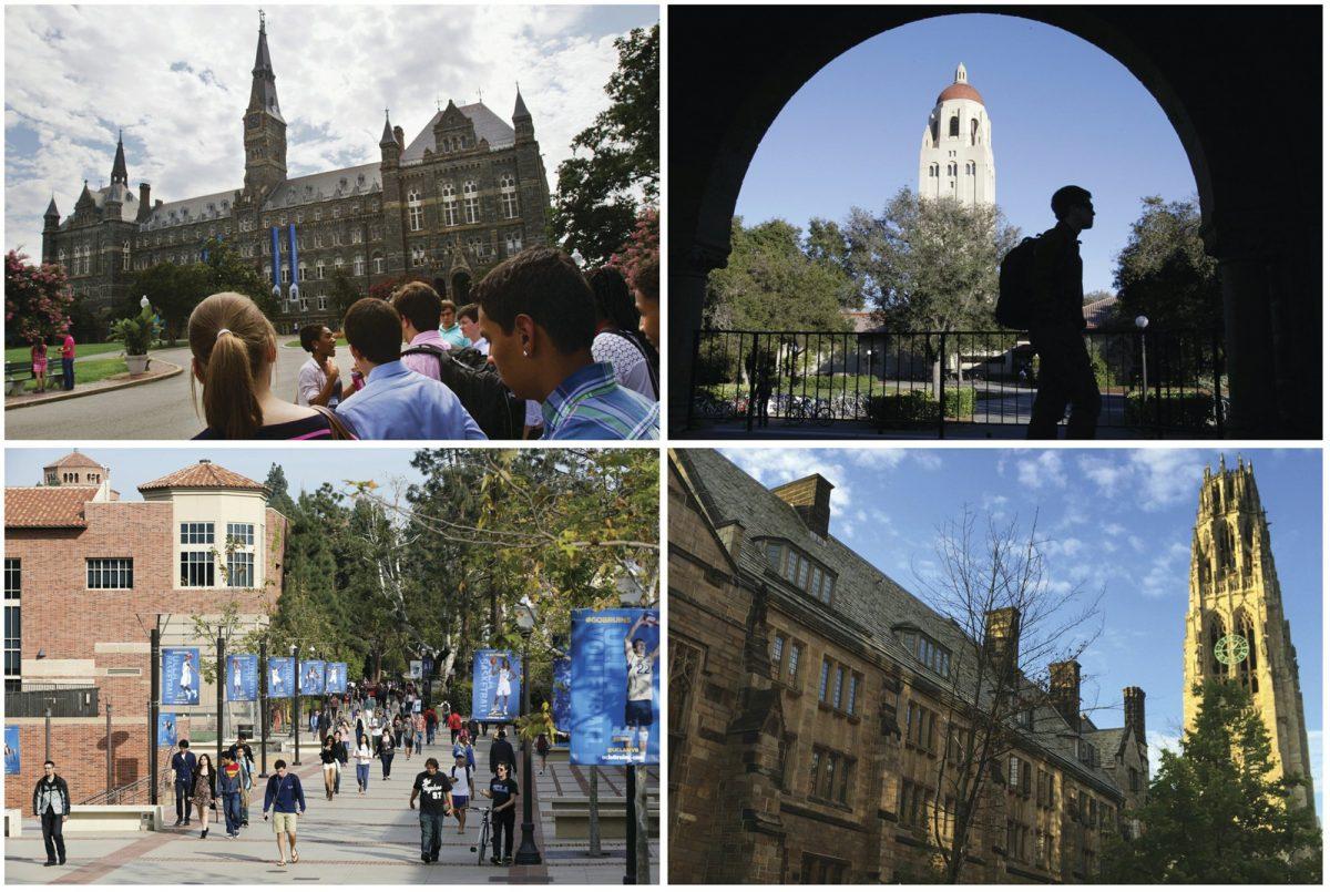 Georgetown University, Stanford University, Yale University, and University of California, Los Angeles