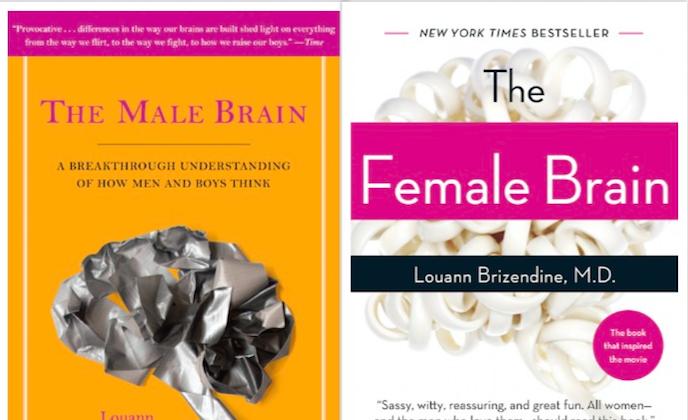 "Louann Brizendine's ""The Male Brain""and ""The Female Brain."" (Penguin Random House)"