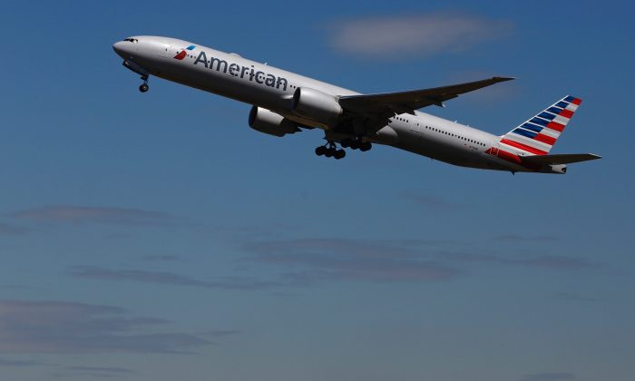 An American Airlines airplane takes off from an airport in a file photograph. (Luke MacGregor/Reuters)
