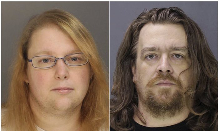 This combination photo provided on Jan. 8, 2017, by the Bucks County District Attorney shows Sara Packer, left, and Jacob Sullivan. (Bucks County District Attorney/File via AP)