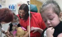 Little Girl Gets Eye Surgery That Allow Her to See for the Very First Time, Now the Bandages Come Off