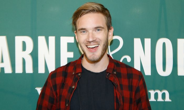 "Felix Arvid Ulf Kjellberg Felix Kjellberg from one of Youtube's largest channels, ""Pewdiepie,"" signs copies of his new book at Barnes & Noble Union Square in New York City on Oct. 29, 2015. (John Lamparski/Getty Images)"