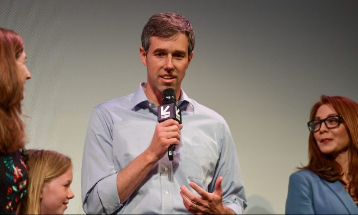 "Beto O'Rourke attends the ""Running with Beto"" Premiere 2019 SXSW Conference and Festivals at Paramount Theatre in Austin, Texas, on March 9, 2019. (Matt Winkelmeyer/Getty Images for SXSW)"