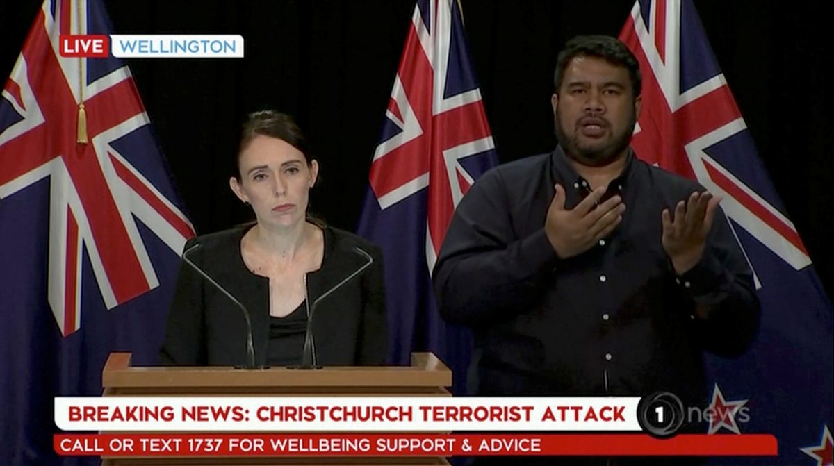 New Zealand's Prime Minister Jacinda Ardern speaks during a news conference following the Christchurch mosque attacks, in Wellington