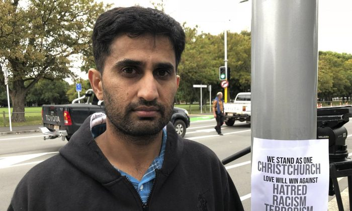 Yasir Amin, 35-year-old, describes his run-in with the gunman in Friday's mass shootings in Christchurch, New Zealand, on March 16, 2019. (Kristen Gelineau/AP Photo)
