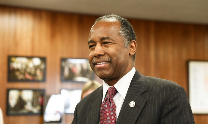 Dr. Ben Carson, secretary of Housing and Urban Development, in Washington on March 14, 2019. (Charlotte Cuthbertson/The Epoch Times)