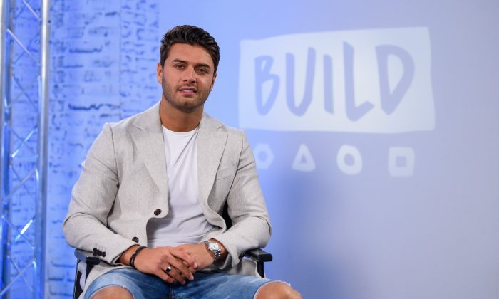 Mike Thalassitis takes part in a panel discussion in London,  on Feb. 7, 2018. (Joe Maher/Getty Images)