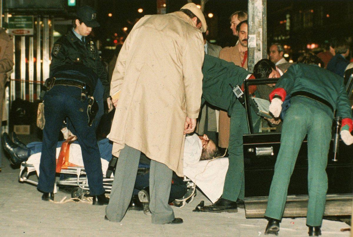 The body of mafia crime boss Paul Castellano